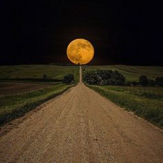Supermoon rises over this road to nowhere in South Dakota