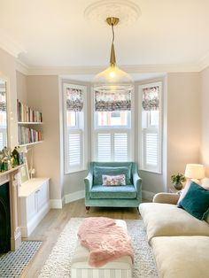 Living Room Interior, Home Living Room, Home Interior Design, Living Room Designs, Living Room Decor, Living Room Inspiration, Home Decor Inspiration, Cafe Style Shutters, Victorian Living Room