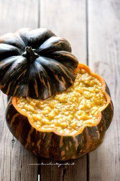Risotto zucca e gorgonzola - Risotto zucca e gorgonzola Savory Pumpkin Recipes, Veggie Recipes, Filet Mignon Chorizo, Pumpkin Risotto, Best Italian Recipes, Gnocchi, Chef Recipes, Food Design, Healthy Cooking