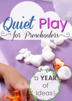Quiet and independent play ideas for preschoolers! These quiet time activities are great for little kids who need some help calming down. Perfect quiet time ideas for non-nappers and rest time! Educational Activities For Preschoolers, Quiet Time Activities, Preschool Arts And Crafts, Activities For 2 Year Olds, Preschool At Home, Alphabet Activities, Toddler Preschool, Preschool Activities, Motor Activities