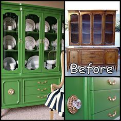 China Cabinet Makeover - Do this with Antibes Chalk Paint®