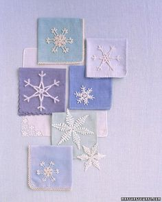 pattern: crocheted snowflakes