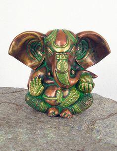 Antique Brass Ganesh Statue