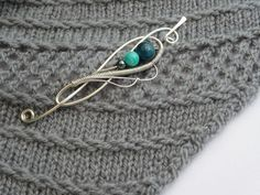 Silver Flourish Shawl Pin 2 Colors  Add a Little