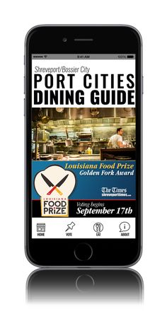 Port Cities Dining Guide, designed for Praeses and The Times and Times Media for Android and iPhone to help local users find great restaurants. Also home to the Louisiana Food Prize Golden Fork Award.