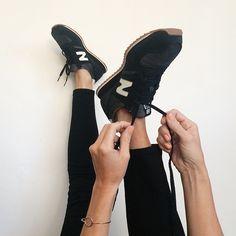 black sneakers | black jeans, via seejaneblog.