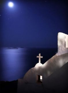 Full moon in Oia village, Santorini island, Greece. Beautiful Islands, Beautiful World, Beautiful Places, Santorini Island, Santorini Vacation, Greece Islands, Photos Voyages, Greece Travel, Mykonos