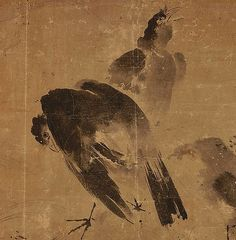 Toyo Sesshu - Two Mynah birds