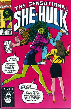 The Sensational She-Hulk #31 cover by John Byrne