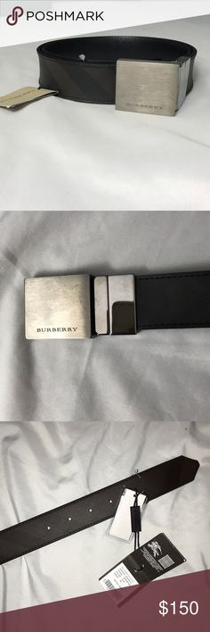NWT Burberry men's nova belt Brand New Burberry men's belt!! size 32 & made in Italy!! belt is in the classic nova style & includes the tags! metal has a rustic type look to it & leather can be adjusted to size! Burberry Accessories Belts