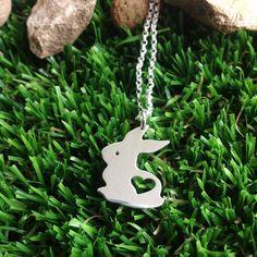 Bunny silver necklace from Alyssa Smith 2013