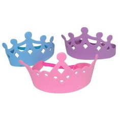 Foam Princess Tiaras Crowns Party Dress-up Role Play Accessory 1 dozen Sofia The First Birthday Party, 4th Birthday Parties, Birthday Ideas, 5th Birthday, Golden Birthday, Kid Parties, Kid Party Favors, Party Hats, Princess Tea Party