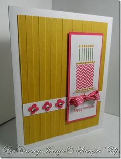 "Simple ""Birthday Cake"" Card Details on my blog at: www.stampingleeyours.blogspot.com"