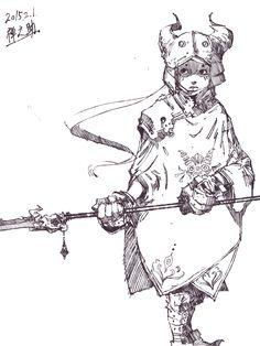 ラクガキ「竜騎士」