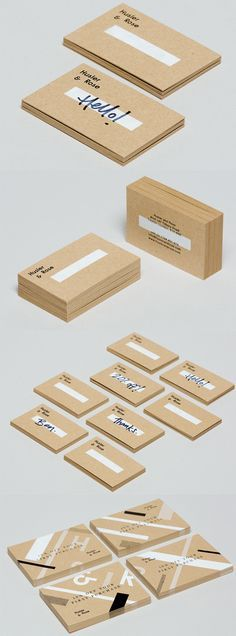 Well that's something new. Personalize your business cards as you hand them out!