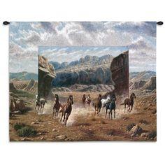 Running Horses Art Tapestry Wall Hanging