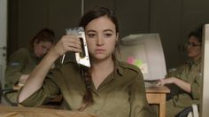 """A new dark comedy about life in the Israeli Army reminds us that enlistees may be soldiers, but they're also, for the most part, children. (Above: Nelly Tagar in """"Zero Motivation."""" Photograph courtesy Yaron Scharf/Zero Motivation)"""
