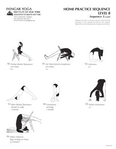 Home Practice Sequence Level II Sequence 3 (cont) | Iyengar Yoga Institute of New York