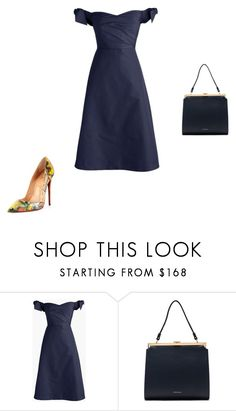 """""""Untitled #12104"""" by explorer-14576312872 ❤ liked on Polyvore featuring J.Crew, Mansur Gavriel and Christian Louboutin"""