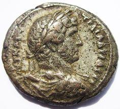 Egypt Alexandria HADRIAN Billon Tetradrachm 129 AD - Roman Provincial coin Alexandria, Seals, Egypt, Roman, Coins, Rooms, Seal, Alexandria Egypt, Harbor Seal