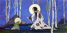 """Jessie M King. """"The Frog Prince"""" panel."""