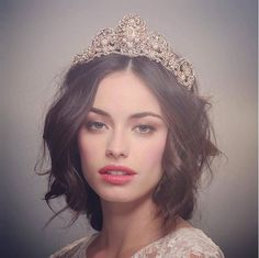 Our Crown is meant for every queen seeking a powerful and bold statement piece for their - Natural Wedding Makeup, Wedding Hair And Makeup, Bridal Makeup, Hair Makeup, Wedding Tiara Hairstyles, Bridal Crown, Foto Art, Wedding Hair Accessories, Bride Accessories