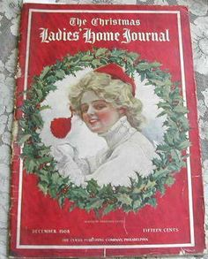 Christmas ~ December The Ladies' Home Journal Christmas issue [Harrison Fisher cover illustration]