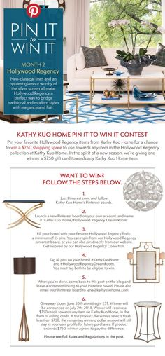 Pin It to Win It: Hollywood Regency | Kathy Kuo Home #KathyKuoHome #HollywoodRegencyDreamRoom