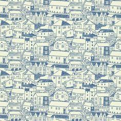 Blue House Pattern by aswihart