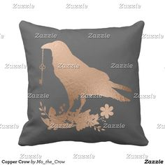 Copper Crow Pillow