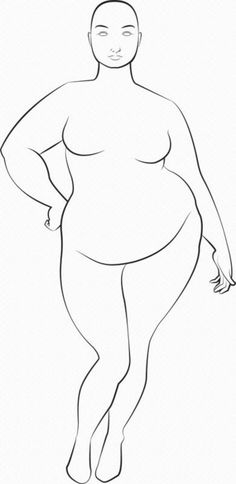 plus size croquis | Plus Size Croquis - for K. Link to image only. #fashion design illustrations