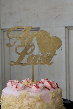 Hey, I found this really awesome Etsy listing at https://www.etsy.com/listing/286789697/at-last-personalized-wedding-cake-topper