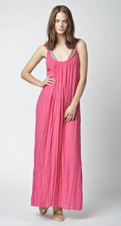 Lisa Curran Swim - Braid Maxi Dress in Azalea