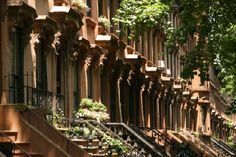 My old street in Brooklyn.  Looks like Sesame Street.