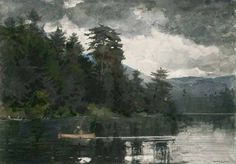 Winslow Homer (1836 — 1910, USA) Adirondack Lake. 1889 watercolor.