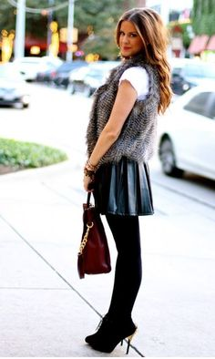 Love the vest, skirt, tights, and rocker boots......cute!!!!!
