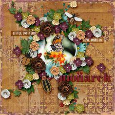 Value Pack: A Bug's Life A Bug's Life, Digital Scrapbooking Layouts, Little Critter, Bugs, Insects, Floral Wreath, Packing, Home Decor, Bag Packaging