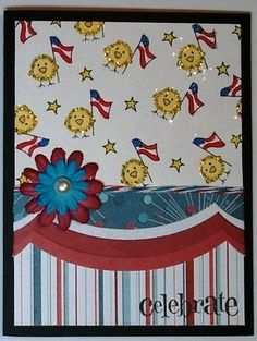 DeNami 4th of July Celebrate card by @Christy Pratt