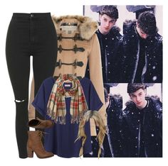 """""""-  Pleasee come Fall weather   -"""" by courtneycarson3 ❤ liked on Polyvore featuring Burberry, Topshop, Organic by John Patrick, Rebels and Rampage"""