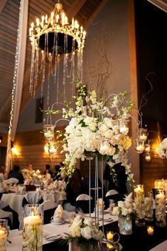 wedding centerpiece idea; photo: Sewell Photography