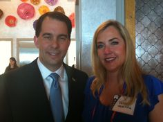 DeDe and Governor Scott Walker- my hero!