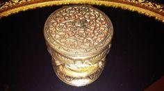 Ornate Jewelry Casket Trinket Box Vanity Home by frankiesfrontdoor, $28.00
