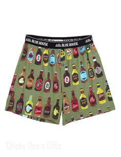Hatley Men s Boxers LAGER THAN LIFE Novelty Underwear Beer Father's Day