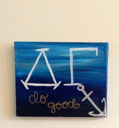 "DG Delta Gamma ""Do Good"" ombre Anchor Painting                              …"