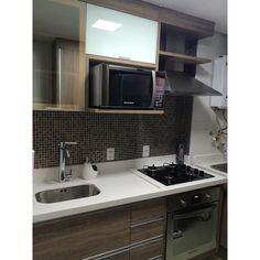 """""""Agora sim, cozinha limpinha!!! ✨✨✨ #apê114 #cozinha #moveisplanejados #cozinhaplanejada #faxina"""""""