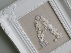 So so beautiful button monogram and neutral, love those neutrals