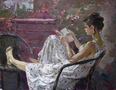Girl Reading by Ylli Haruni