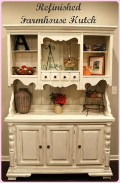 Refinished Farmhouse Hutch with Tutorial « \