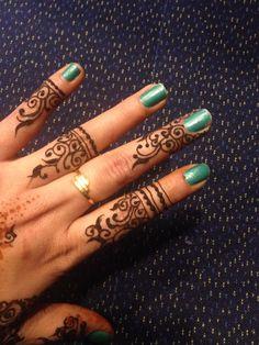 Henna in train... Lol I did it for myself..