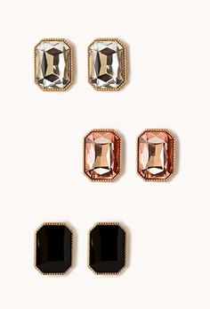Touch-of-Glam Stud Set | FOREVER 21 - 1000072834